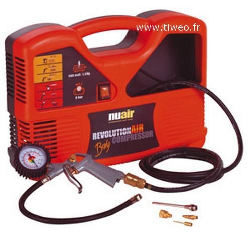 Compressor BOXY 1,5 HP 8 bares com compressor de ar