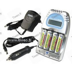 Laddaren uppladdningsbara batterier Ni-MH / Ni-Cd vec 4 uppladdningsbara batterier HR6/AA 2.700mAh