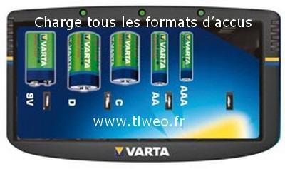 Carregador universal de energia fácil bateria VARTA