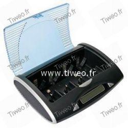 Carregador universal de Ni-MH com porta USB