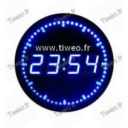 Reloj de pared con segundos llevadas desplazamiento