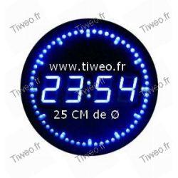 Horloge murale avec Défilement des secondes par LED