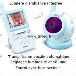 Surveillance vidéo bébé et enfant sans fil 2,4 GHz