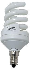 Lampadina fluorescente compatta 15W E14 (75W)