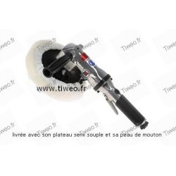 Polisher pneumatic angle is 180 mm