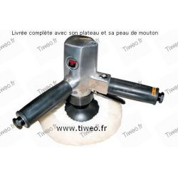 Lucidatrice pneumatica verticale Pro 180 mm dia