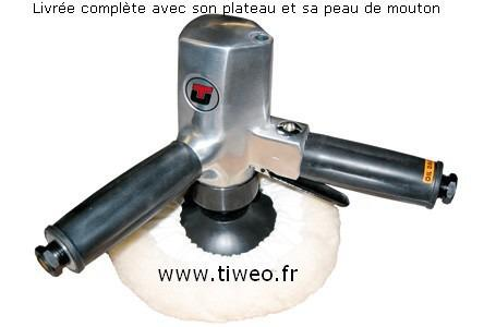 Pulidora neumática vertical Pro 180 mm diámetro