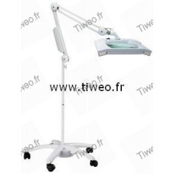 Magnifying lamp on foot for doctor, electronic