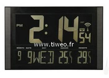 Radio gigante reloj + calendario + temperatura int - ext