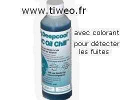 Aceite acondicionado con líquido de contraste para la detección de fugas