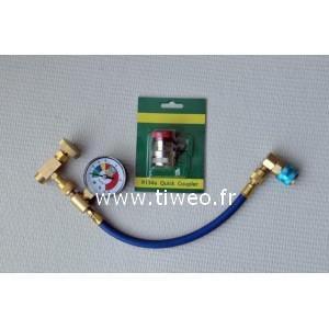 R12 y R134a aire acondicionado conector de carga