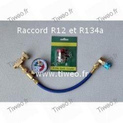 R12 e R134a aria condizionata connettore di ricarica