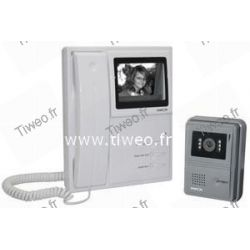 Porta video rispondendo wireframe sistema bianco e nero