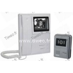 Video dörr besvara system svartvita trådram
