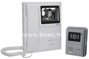 Portier vidéo Noir et blanc filaire