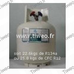 Gaz réfrigérant Duracool 22A de 9 Kg
