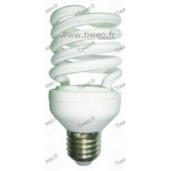 Ampoule fluo grande puissance E27 - 25W (100W) - Blanc chaud