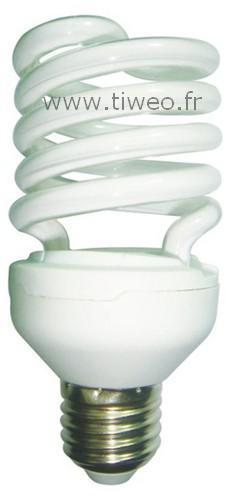 Lâmpada fluorescente de alta potência E27 - 25W (100W) - branco quente