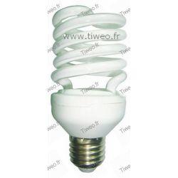 Ampoule fluo grande puissance E27 - 20W (75W) - Blanc chaud