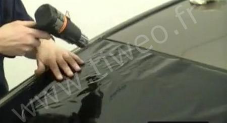 Película solar tintada negro automóvil
