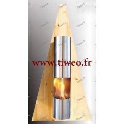Cheminée Ethanol murale Pyramide couleur Pin