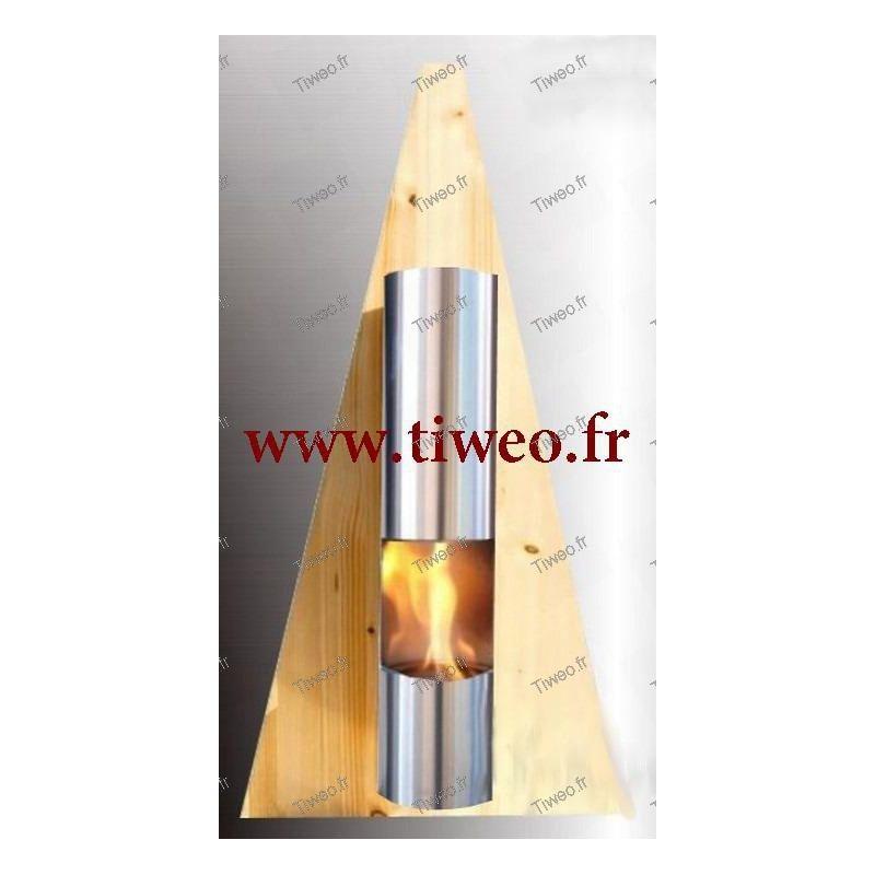 Chemin e ethanol murale type pyramide couleur pin chemin e ethanol pas cher - Cheminee murale ethanol pas cher ...