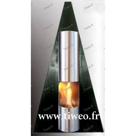 Camino bioetanolo da parete Piramide colore Nero