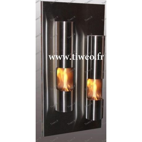 Chimenea de etanol de pared Torre de fuego de acero inoxidable