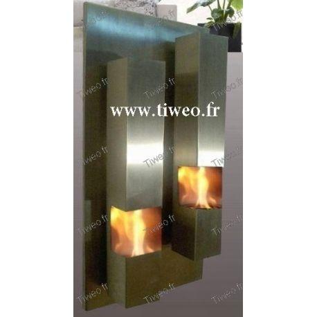 Lareira a etanol de aço inoxidável de parede