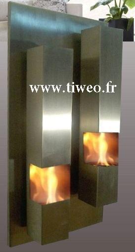 Etanol eldstad vägg rostfritt stål