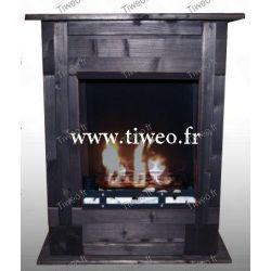 Fireplace bio ethanol wall recessed black