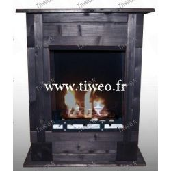 Chimenea de bioetanol de pared empotrable negro