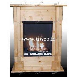 Fireplace bio ethanol wall recessed pin natural