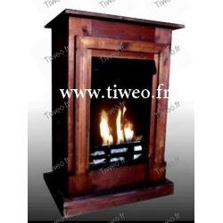 Chimenea de bioetanol de pared empotrable marrón