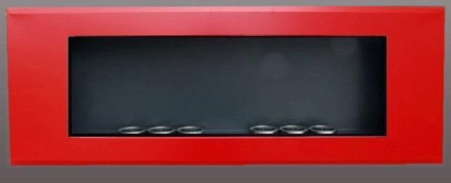 Pared de chimenea etanol 16/9 lacado rojo