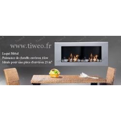 Fireplace ethanol wall 16/9 lacquered metal
