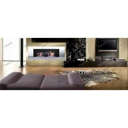 Fireplace ethanol wall 16/9 Stainless steel Luxury