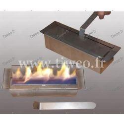 Öppen spis etanol vägg 16/9 rostfritt stål de Luxe