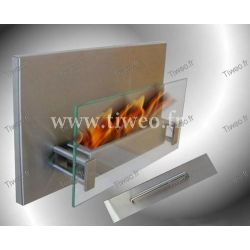 Chimenea de etanol pared acero inoxidable