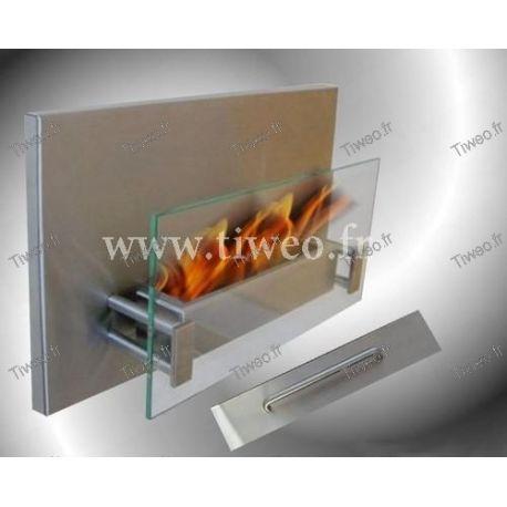 Lareira de etanol de parede de aço inoxidável