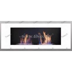 Fireplace ethanol wall 16/9 white Luxury