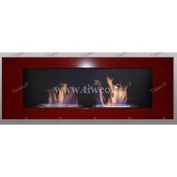 Fireplace ethanol wall 16/9 red Luxury