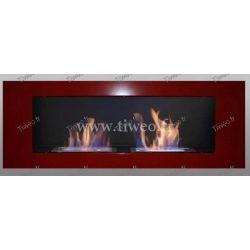 Ethanol Wand 16/9 Luxus roter Schornstein
