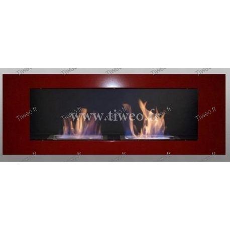Cheminée ethanol murale 16/9 rouge de Luxe