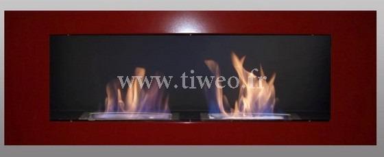 Etanol de pared chimenea de lujo rojo 16/9