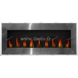 Fireplace ethanol wall-mounted XXL Stainless steel