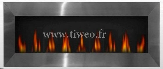 Chimenea de etanol pared XXL de acero inoxidable