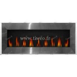 Fireplace ethanol wall XXXL Stainless steel