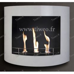 Chimenea de etanol de pared blanco