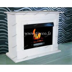 Fireplace ethanol luxury white lacquer